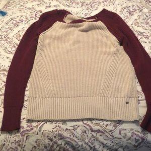 American Eagle sweater, maroon & khaki, size Large